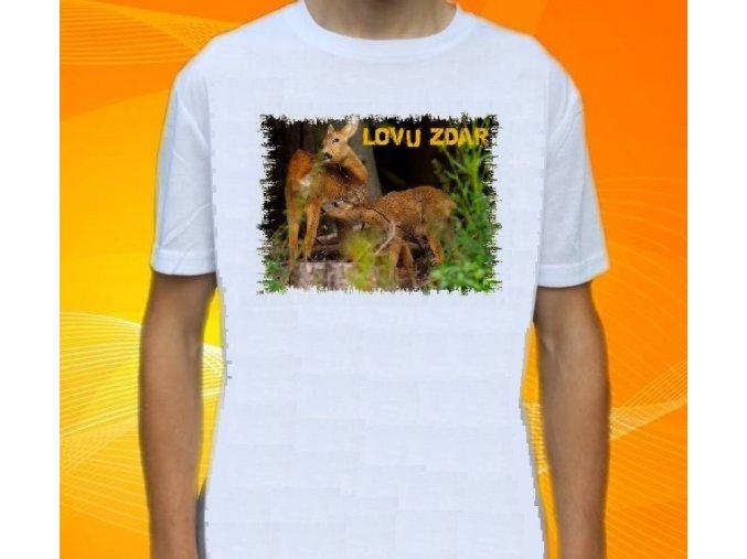 tričko, dětské, pánské, potisk, myslivec, srnky