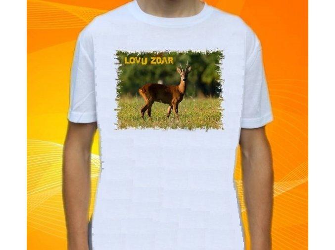 tričko, dětské, pánské, potisk, myslivec, srnka