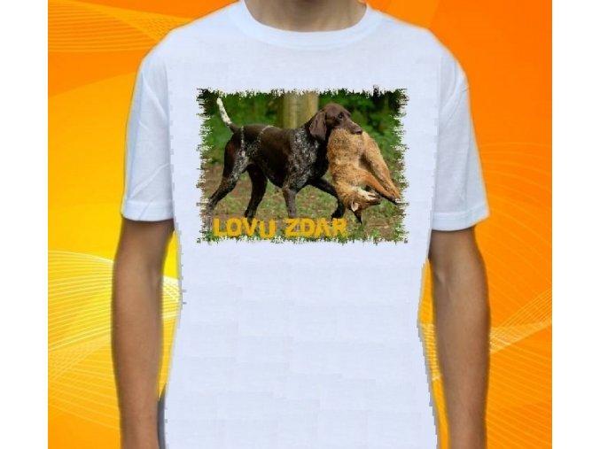 tričko, dětské, pánské, potisk, myslivec, ohař, liška