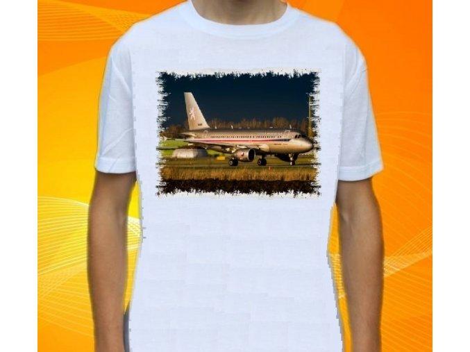 tričko, dětské, pánské, potisk, letadlo, Airbus