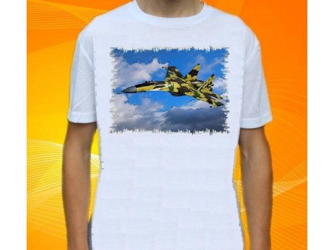 tričko, dětské, pánské, potisk, letadlo, stihačka Suchoj