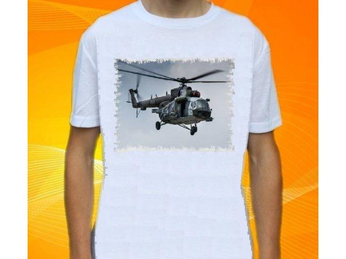tričko, dětské, pánské, potisk, vrtulník, Mi-171