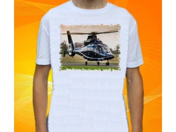 tričko, dětské, pánské, potisk, vrtulník, Dauphin