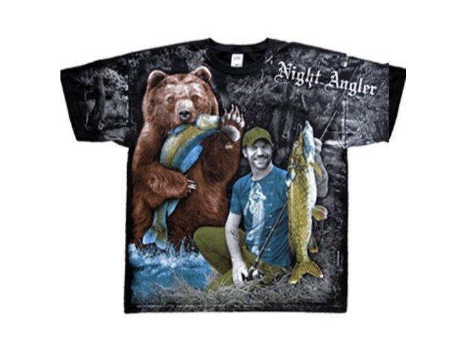 tričko s rybáři