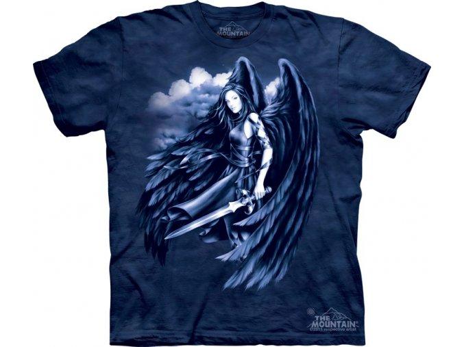 tričko, černý anděl, potisk, batikované, mountain
