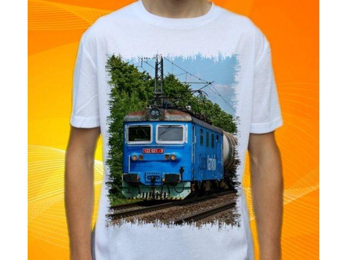 tričko elektrická lokomotiva 122.021
