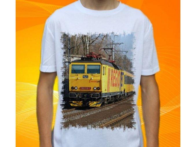 tričko lokomotiva elektrická 162.112