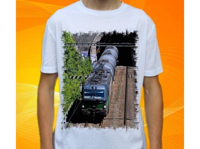 tričko lokomotiva elektrická 193 216