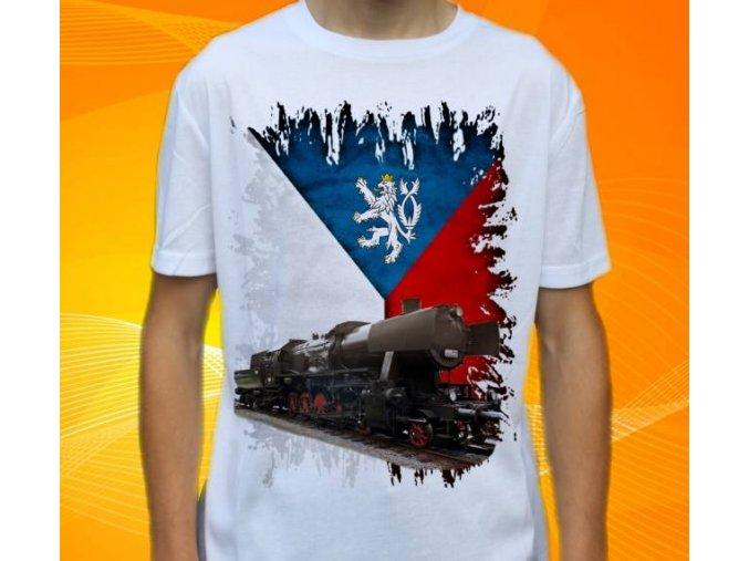tričko parní lokomotiva 555