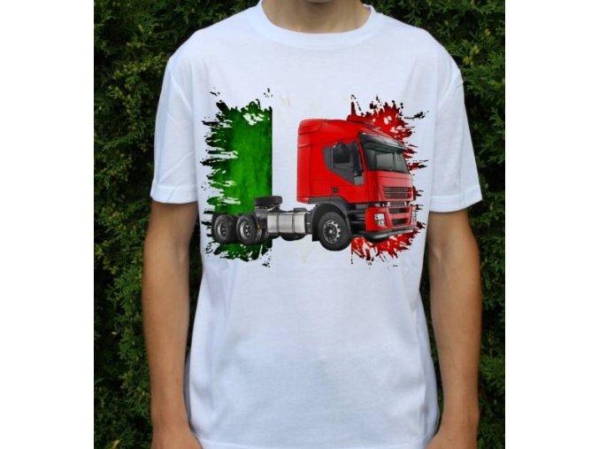 tričko, tahač, kamion, potisk, iveco stralis 2012 ČERVENÝ