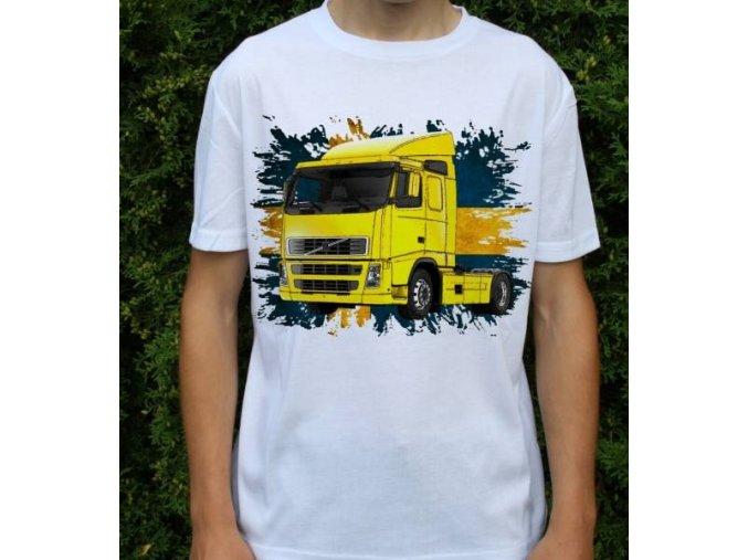 tricko-nakladni-auto-potisk-truck-volvo-fh420-zluty