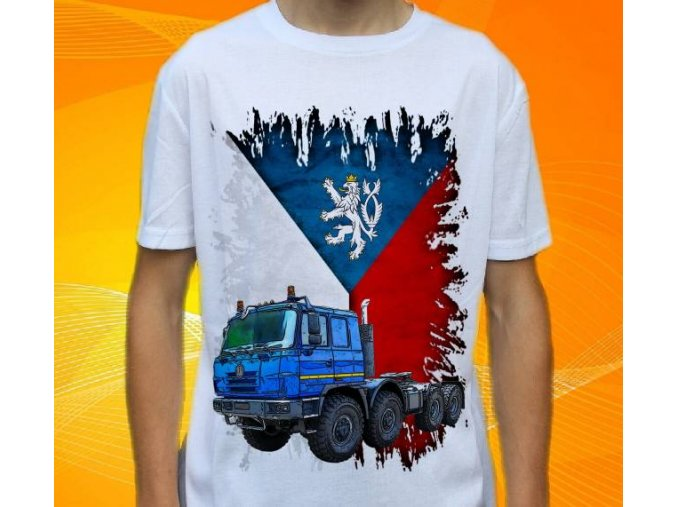 tricko-nakladni-auto-potisk-truck-tahac-tatra