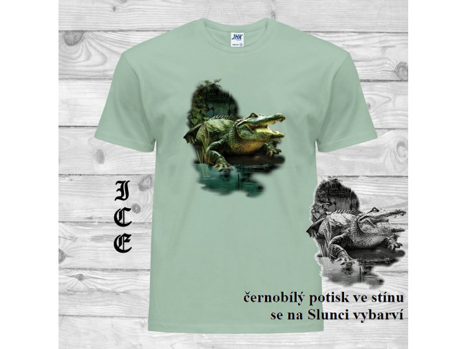 zelene tricko aligator