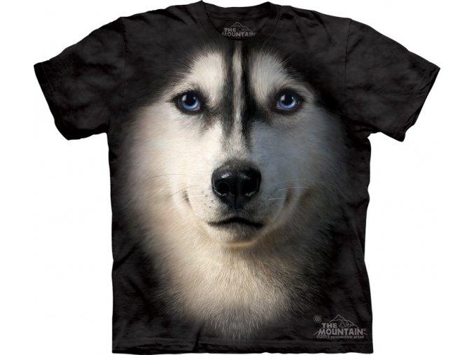 tričko, pes husky, 3d, potisk, dětské, mountain