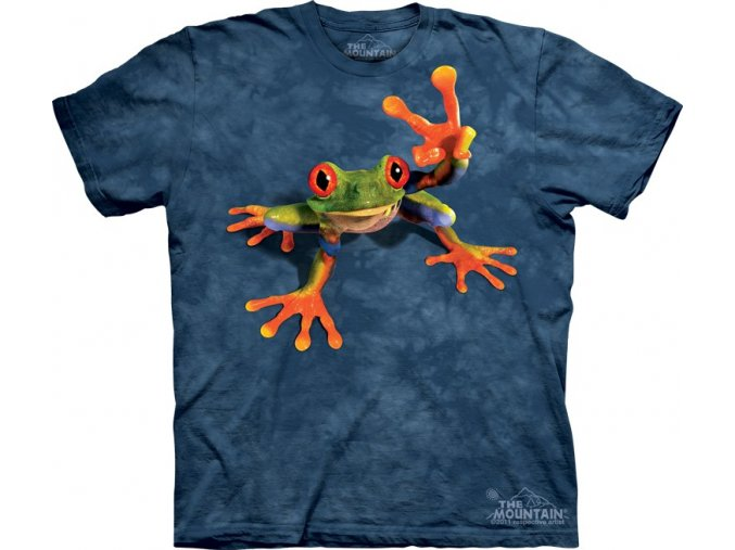 tričko, žába, hipie, vtipné, potisk, batikované