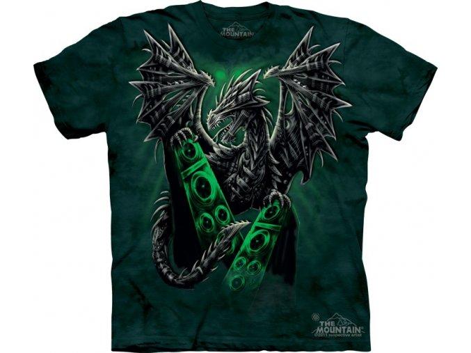 tričko, drak, rockové, batikované,  potisk, mountain