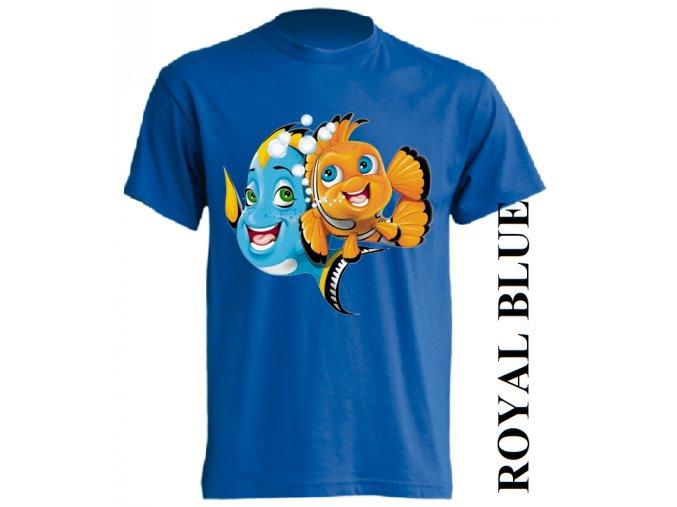 dětské_tričko-modré-potisk-dory
