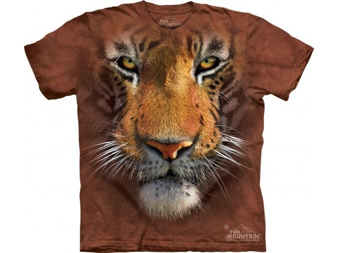 tričko, tygr, 3d, batikované, potisk, mountain