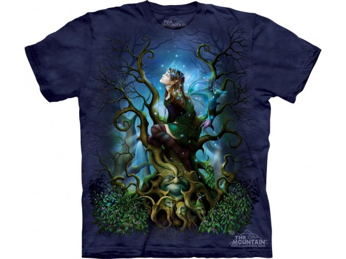 Tričko, keltské, druid, potisk, batikované, mountain