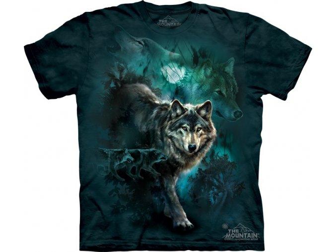 tričko-vlci-noc-batikované-potisk-Měsíc