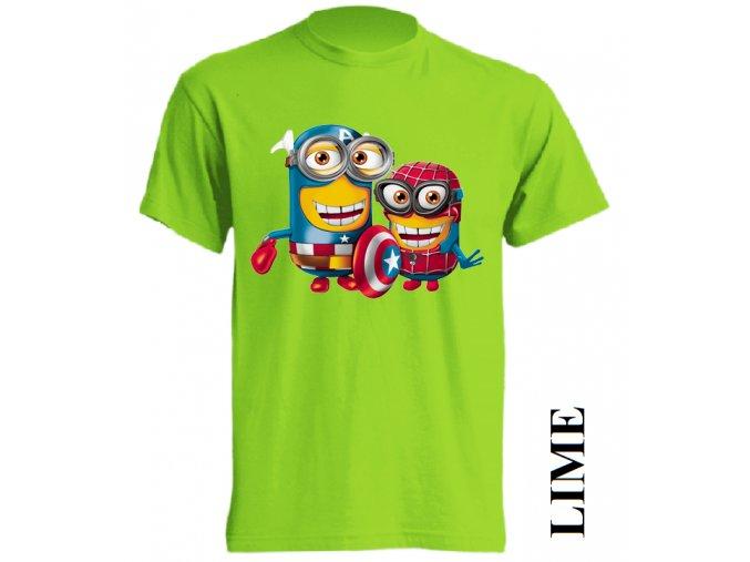 tricko-mimon-spiderman-kapitan-amerika-limetkove-zelene