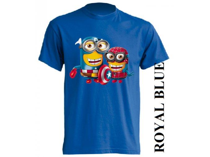 dětské_tričko-modré-potisk-mimoň-spiderman