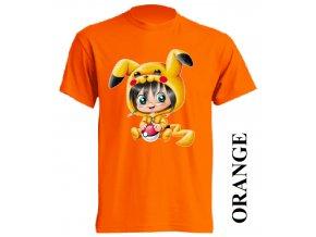 film-dětské_tričko-oranžové-motiv-pokemon-pikachu