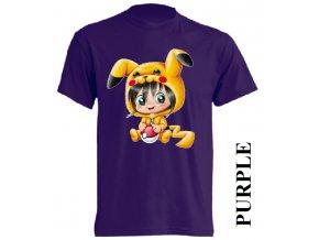 levné-dětské_tričko-fialové-pokémoni