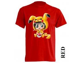 levné-dětské-tričko-červené-pikachu