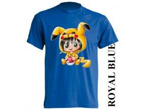 dětské_tričko-modré-potisk-pokémon