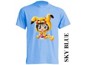 dětské-tričko-světle_modré-motiv-pikachu-pokemon