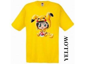 bavlněné-levné-dětské-tričko-žluté-pokemon