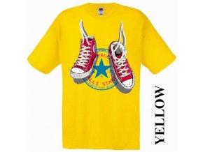 bavlněné-levné-dětské-tričko-žluté-tenisky_converse