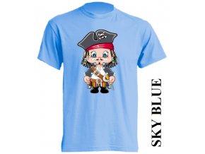 levné-dětské-tričko-pirát-korzár-svetle-modre