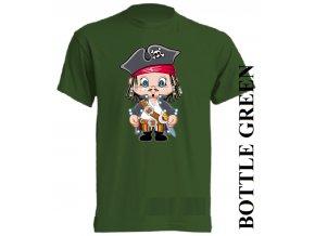 bavlněné-dětské_tričko_s_potiskem-tmavě_zelené-pirát