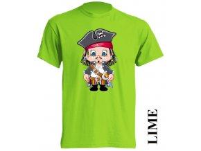 dětské-tričko-limetkové-potisk-pirát