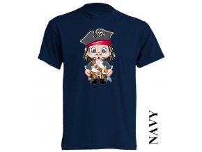 bavlněné-levné-dětské_tričko-tmavě_modré-potisk-korzár