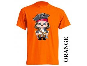film-dětské_tričko-oranžové-motiv-korzár-pirát
