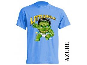 3D dětské tričko s potiskem Hulka azurově modré