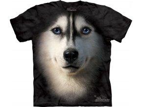 tričko, pes, husky, batikované, potisk, 3d