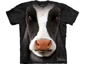 tričko-kráva-3d-potisk-batikované