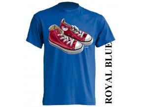 3D tričko s potiskem tenisek Converse modré