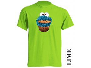 3d-tricko-cookie-monster-limetkove-zelene