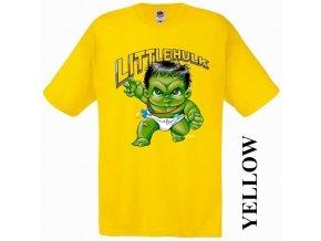 detske-3d-tricko-hulk-zlute