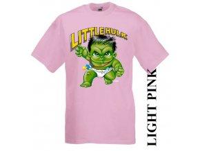 3D dětské tričko s potiskem Hulka světle růžové