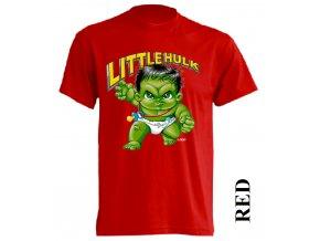 3D dětské tričko s potiskem Hulka červené