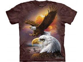tričko-orel-oblaka-batikované-potisk-mountain