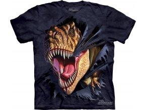 tričko-dinosaurus-t-rex-batikované-potisk-trhající tričko