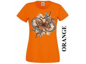 damske-tricko-dekorativni-jesterky-oranzove