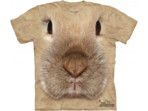 tričko, králík, 3d, potisk, batikované, mountain